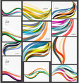 set of wave elegant modern geometrical templates vector image vector image