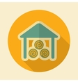 Shed retro flat icon with long shadow vector image vector image