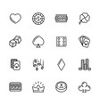 simple icon set casino gambling and card games vector image vector image