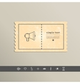 Simple stylish pixel speaker icon design vector image