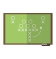 sport tactics chalkboard american football vector image