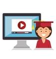 student graduation uniform icon vector image vector image