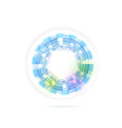 Technology ring transparent modernistic vector image vector image