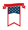 united states america ribbon frame vector image vector image