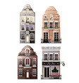 variations of old european facade houses vector image vector image