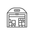 warehouse with parcels line icon vector image vector image