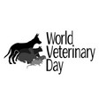 world veterinary day silhouettes various vector image vector image