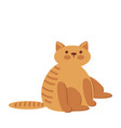 cute and funny sweet red cat character cartoon vector image