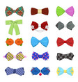 bow ties set for celebration and party vector image