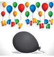 colorful balloon birthday greeting card stock vect vector image