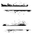 two grunge line banners vector image