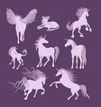 unicorns image collection vector image