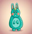 Cute cartoon bunny 2 vector image