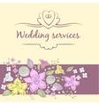 Wedding service vector image