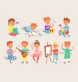 young children kids boys and girls school vector image