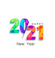 2021 new year colour banner logo for holidays vector image