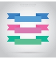 Abstract ribbon label isolated vector image vector image