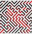 aerial view of 3d maze labyrinth with red ground vector image vector image