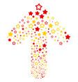 ahead cursor arrow figure with decoration stars vector image