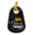 black friday tag vector image vector image