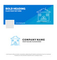 blue business logo template for deposit safe vector image
