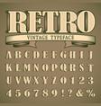 bold vintage font vector image vector image