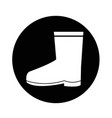 boot icon design vector image