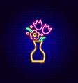 bouquet neon sign vector image