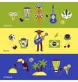Brazil Banner Set vector image vector image