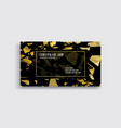 business card with golden detail vector image