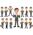 businessman in different poses vector image vector image
