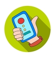 Call conference icon in flat style isolated on vector image