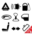 car part icon set 6 vector image vector image