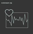 cardiogram icon line element vector image