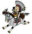 cartoon native indian boy vector image