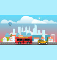city travelling concept vector image vector image