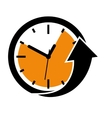 Clock and arrow icon Time design graphic vector image vector image