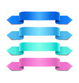 colorful decorative ribbons vector image