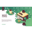 concept with isometric coffee vector image vector image