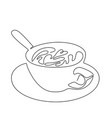 continuous line drawing cup coffee or vector image vector image