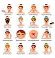 cosmetic procedures flat set vector image vector image