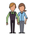 couple people relationship faceless vector image vector image