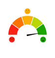 credit score indicator isolated on white vector image vector image