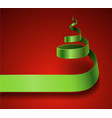 curling christmas tree vector image
