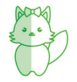 cute and tender female fox kawaii style vector image vector image