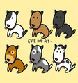 cute dogs set cartoon vector image