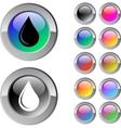 Drop multicolor round button vector image vector image