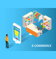 e-commerce concept isometric vector image