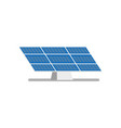 flat solar panel power plant vector image vector image