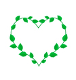 Fresh Green Vine Leaves in A Heart Wreath vector image vector image